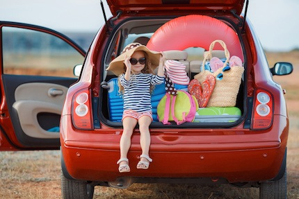 holiday journey - kid in car
