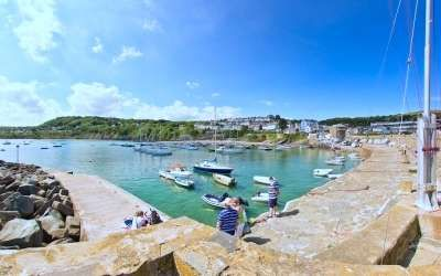 New Quay harbour in West Wales