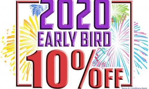 10% off 2020 Holidays