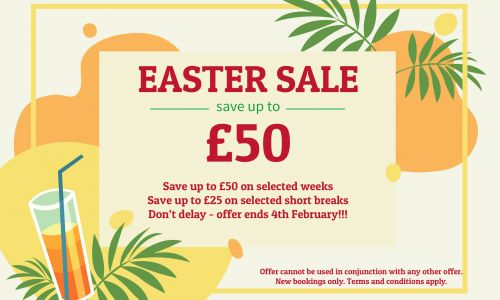 Save up to £50 off your Easter Holidays
