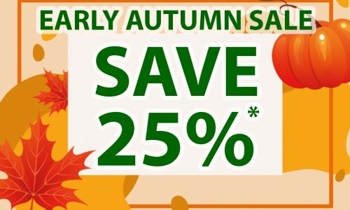 25% OFF EARLY AUTUMN