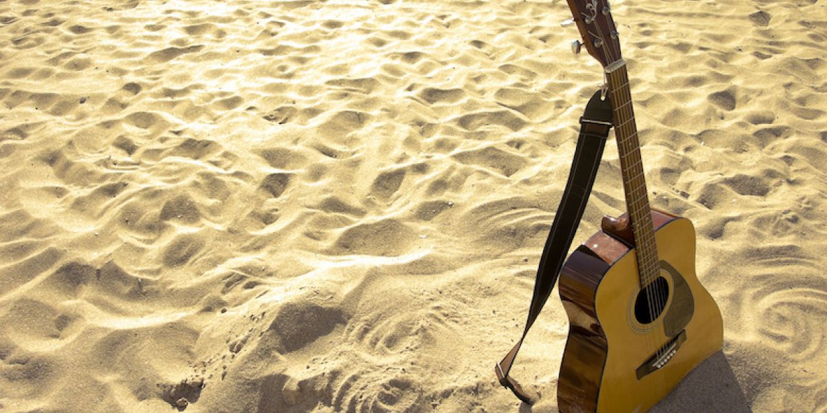 Guitar on the beach Tunes in the Dunes